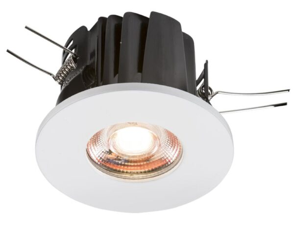 IP65 8w dimmable LED fire rated bathroom downlight warm white 3000k