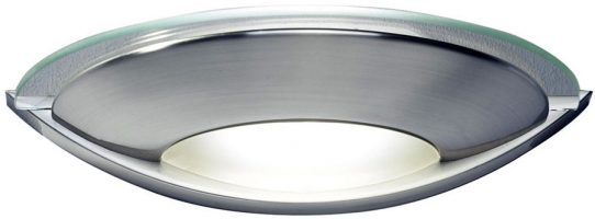 Dar Via Art Deco Style Bright Wall Washer Light Satin Chrome