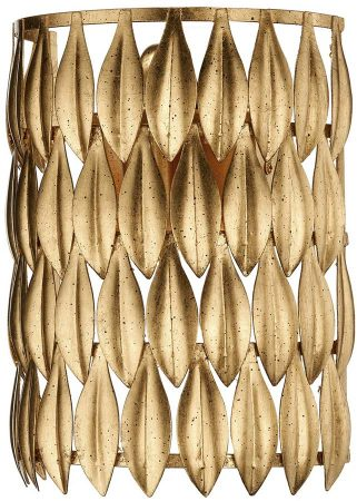 Volcano Modern 1 Lamp Gold Leaf Switched Wall Light