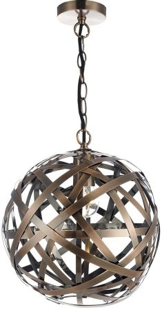 Dar Voyage Modern Antique Copper Ball Pendant Light