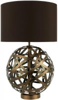 Dar Voyage Antique Copper Ball Table lamp With Shade