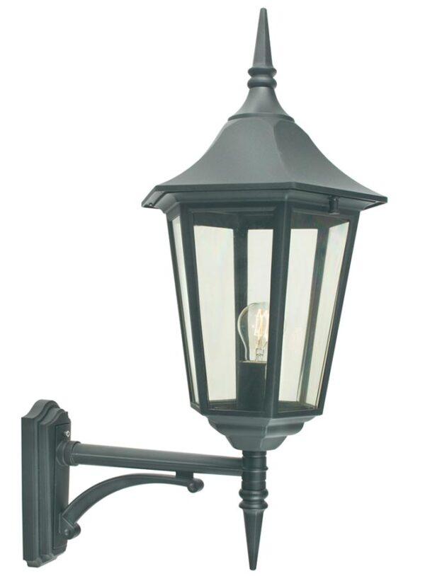 Norlys Valencia Grande Upward Outdoor Wall Lantern Black IP54