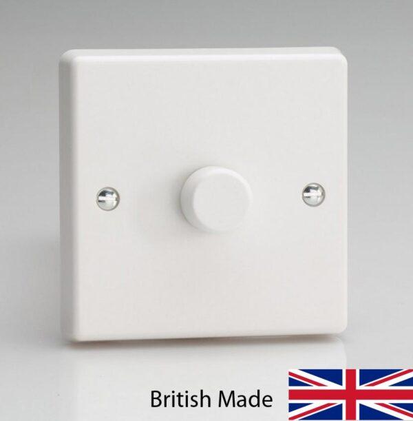 Varilight V-Pro 120W LED 1 Gang Rotary Dimmer Switch White