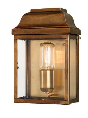 Victoria 1 Light Solid Aged Brass Period Outdoor Wall Lantern