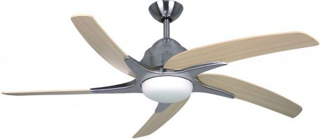 Fantasia Viper Plus Remote 44 Inch Ceiling Fan Stainless Steel