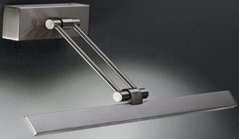 Slimline 350mm Satin Nickel LED Picture Light