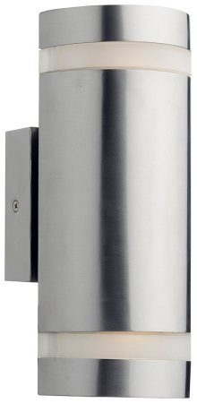 Dar Wessex Up And Down LED Outdoor Wall Light Stainless Steel