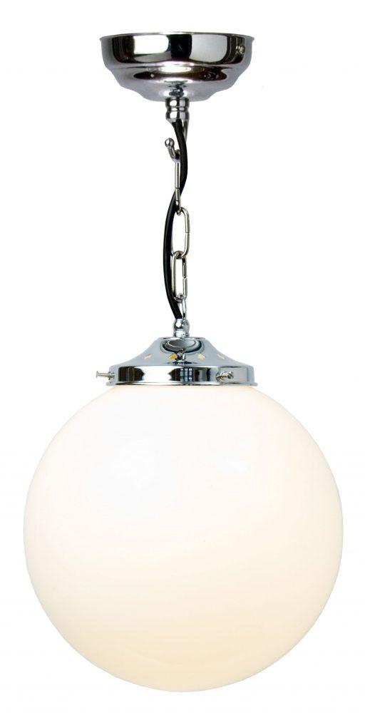 glass ball pendant lighting. Polished Chrome 25cm Opal Glass Globe Pendant Light UK Made Glass Ball Pendant Lighting