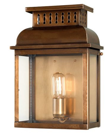 Elstead Westminster 1 Light Solid Aged Brass Outdoor Wall Lantern