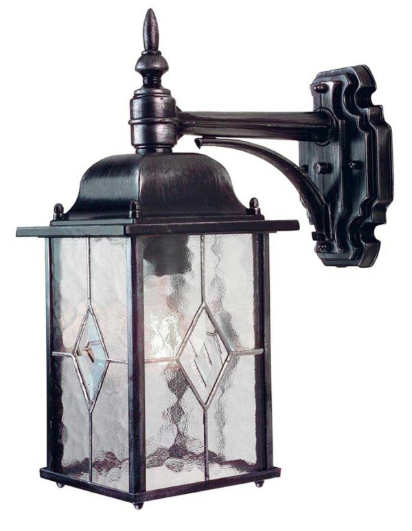 Elstead WX2 Wexford downward outdoor wall lantern in black & silver