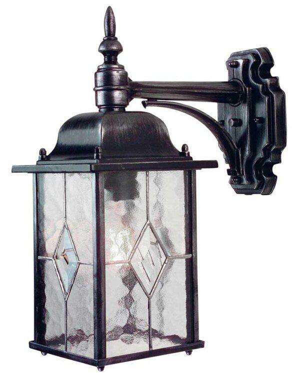 Elstead Wexford Downward Outdoor Wall Lantern Black & Silver