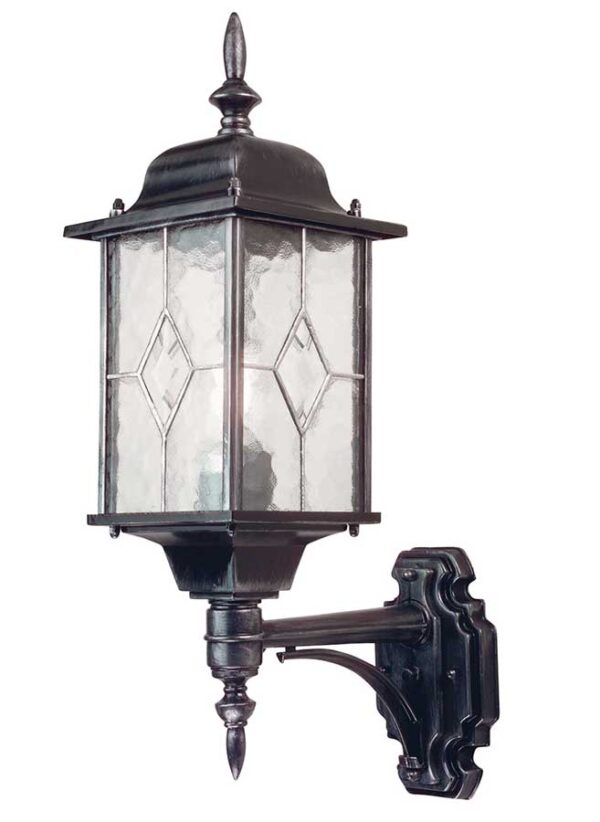 Wexford Traditional Outdoor Wall Lantern Black & Silver