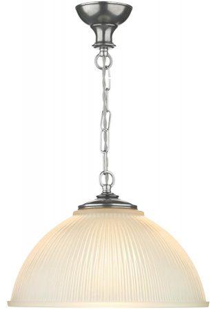David Hunt Yeats Large Ribbed Glass Pendant Light Pewter