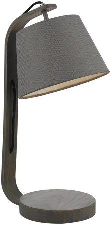 Dar Zakara Table Lamp Grey Washed Wood With Grey Shade