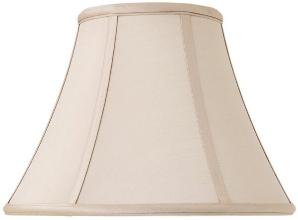 Zara Tapered Empire 12 Inch Oyster Silk Table Lamp Shade
