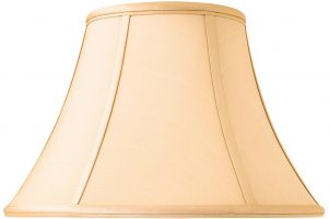 Zara Tapered Empire 14 Inch Honey Silk Table Lamp Shade