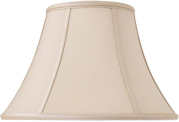 Zara Tapered Empire 14 Inch Oyster Silk Table Lamp Shade