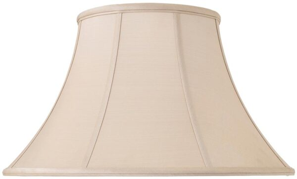 Zara Tapered Empire 18 Inch Oyster Silk Table Lamp Shade