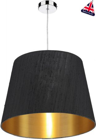 Dar Zuccaro Small Gold Lined Silk Drum Shade Various Colours