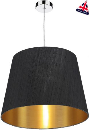 Dar Zuccaro Medium Gold Lined Silk Drum Shade Various Colours