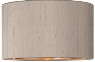 Zuton Pure Silk 30cm Truffle Drum Lamp Shade Bronze Lined