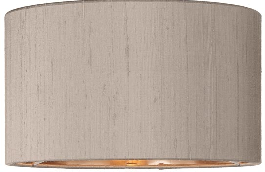 Zuton Pure Silk 30cm Truffle Drum Lamp Shade Bronze Lined