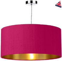 Dar Zuton 50cm Gold Lined Silk Lamp Shade Various Colours