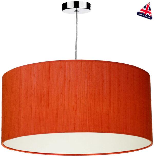 Dar Zuton 50cm Silk Drum Pendant Lamp Shade Various Colours