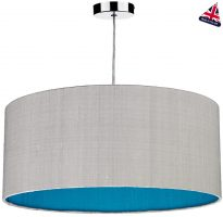Dar Zuton 50cm Silk Drum Shade Various Two Tone Colours