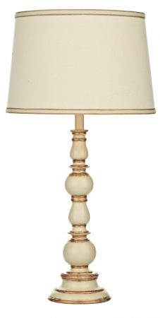 Alpine Distressed Cream And Gold Table Lamp