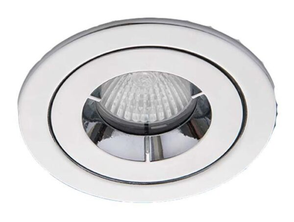 Polished Chrome iCage Fire Rated Bathroom Shower Down Light IP65