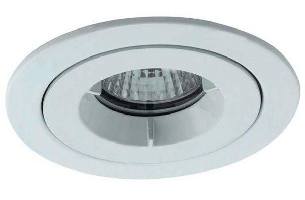 Matt White iCage Fire Rated Bathroom Shower Down Light IP65