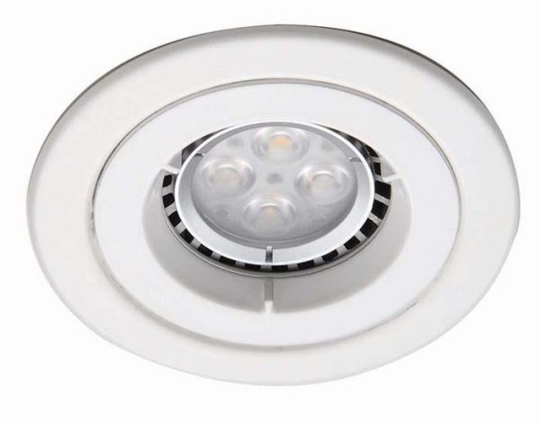 Gloss White iCage Fire Rated Fixed Mini Downlight GU10
