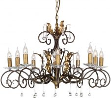 Amarilli Black And Gold 10 Light Large Chandelier UK Made