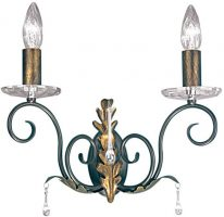Amarilli Bronze & Gold 2 Lamp Wall Light Made In Britain