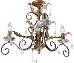 Amarilli Bronze & Gold 3 Light Chandelier Made In Britain
