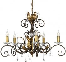 Amarilli Black And Gold 5 Light Chandelier UK Made