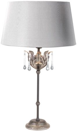 Amarilli Black And Silver Table Lamp With Shade UK Made