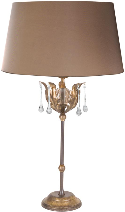 Amarilli Bronze & Gold Table Lamp With Shade Made In Britain