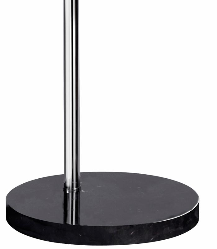Arc Floor Lamp In Chrome With White Plastic Dome Shade 1037cc