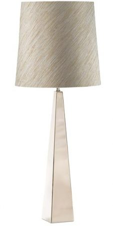Elstead Ascent Polished Nickel Tapered Table Lamp And Shade