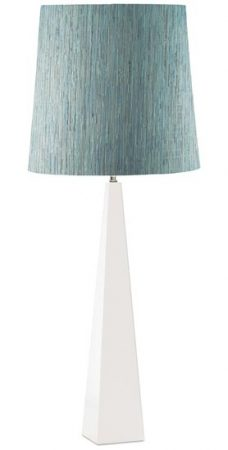Elstead Ascent Contemporary White Table Lamp And Shade