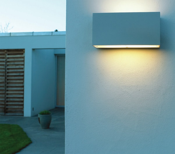 Porch Light Box: Norlys Asker Up & Down Outdoor Wall Light Box Aluminium IP54