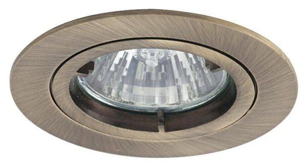 Twistlock antique brass mains voltage GU10 down light