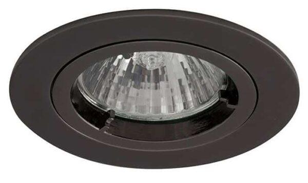 Twistlock black chrome mains voltage GU10 down light