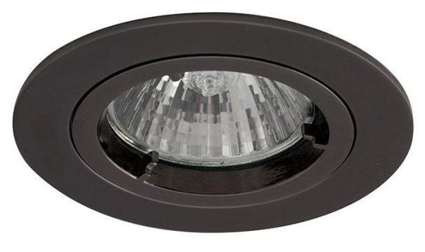 Twistlock Black Chrome Finish Mains Voltage GU10 Down Light