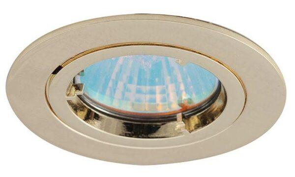 Twistlock Polished Brass Finish Mains Voltage GU10 Down Light