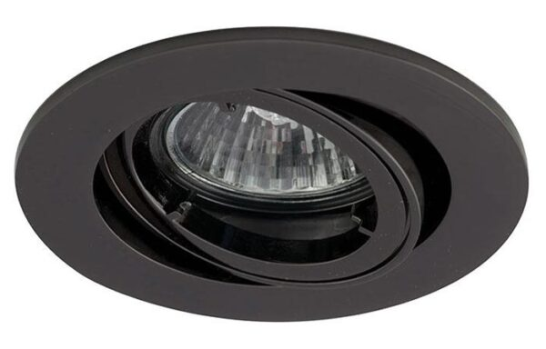 Twistlock Black chrome Mains Voltage Adjustable Down Light