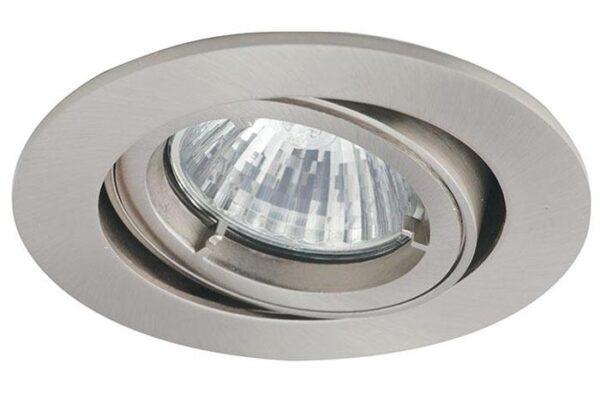 Twistlock satin chrome mains voltage adjustable down light