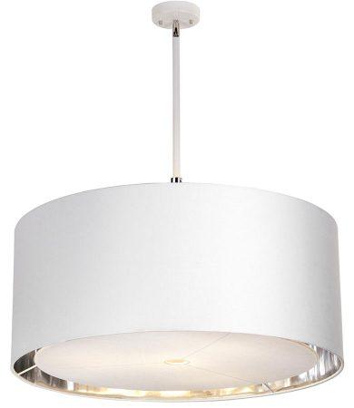 Elstead Balance White / Polished Nickel 4 Light Extra Large Pendant